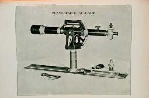 Plane table alidade (1894). Image courtesy of National Oceanic and Atmospheric Administration Department of Commerce.