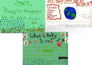 student posters encouraging recycling