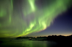 The northern lights in Greenland