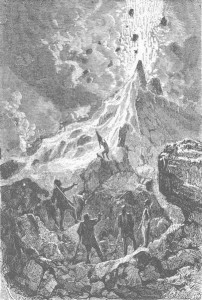 The Volcano in Journeys and Adventures of Captain Hatteras