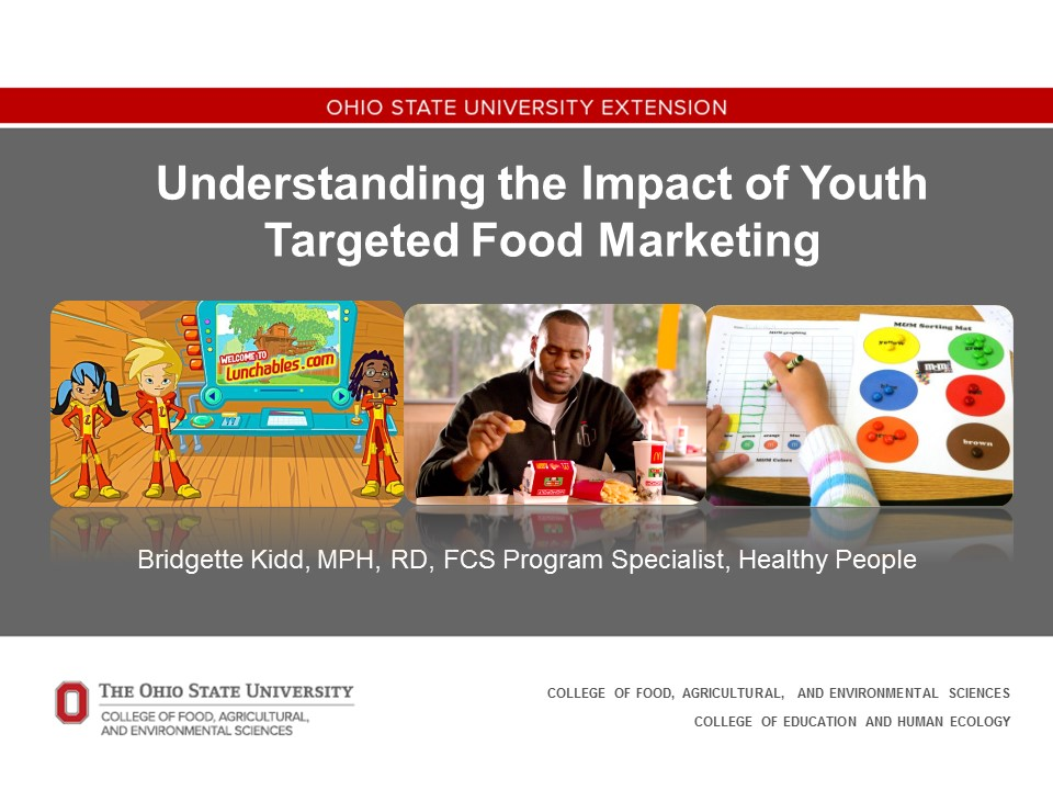 Youth Targeted Food Marketing